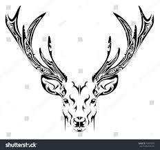 Deer Head by Abstract Deer Head Tribal Tattoo Stock Vector 163070570 Shutterstock