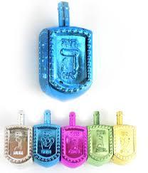 large dreidel large metallic hanukkah dreidel