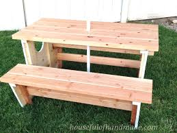 Plans For Building A Wood Picnic Table by How To Build A Nautical Picnic Table For Bigger Kids A Houseful