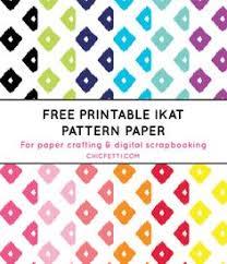 Monogrammed Scrapbook Free Colorful Ikat Pattern Printable Monogram Monogram