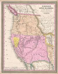 oregon california and new mexico geographicus