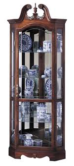 cherry corner curio cabinet cherry corner curio cabinet beveled glass interior lighting