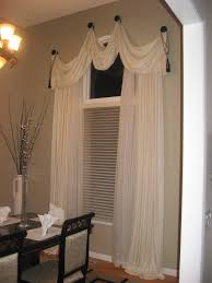 Drapery Ideas by Architecture Captivating White Cotton Homemade Scarf Curtain And