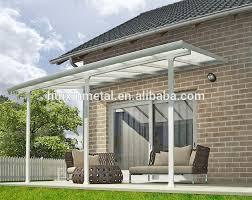 sturdy aluminium frame hollow pc balcony waterproof awning patio