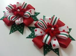 big christmas bows christmas poinsettia and green hair bows for by pinnwheel