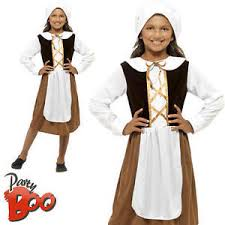 poor tudor girls age 10 11 12 fancy dress kids victorian maid