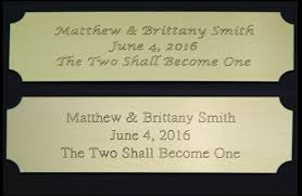 personalized engraving personalized engraved plate