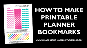 create your own planner template how to make planner printables advice from a planner addict how to make a planner bookmark diy page markers tutorial