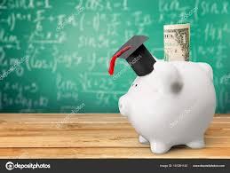 graduation piggy bank piggy bank with graduation hat stock photo billiondigital