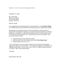 examples of cover letter for resumes letter example nursing