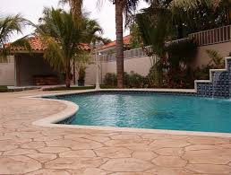 how to revive a pool deck with decorative concrete port aggregates