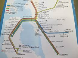 Sf Bart Map San Francisco Int U0027l Airport Bart Station San Mateo County