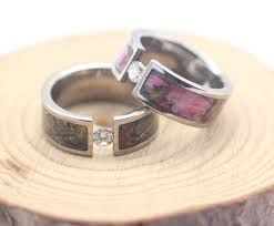 camo wedding ring sets for him and camo diamond engagement rings