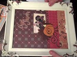 framed thanksgiving scrapbook pages