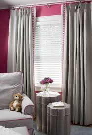 Grey Room Curtains Pink And Grey Room Grey Curtains With An Added Touch Of