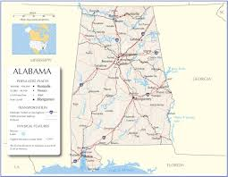 City And State Map Of Usa by Alabama Map Alabama State Map Alabama Road Map Map Of Aalbama