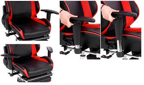 Video Game Chairs With Speakers Amazon Com Merax Ergonomic Series Pu Leather Office Chair Racing