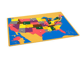 United States Map Puzzle Games by Amazon Com Montessori Usa Puzzle Map W Control Maps Toys U0026 Games