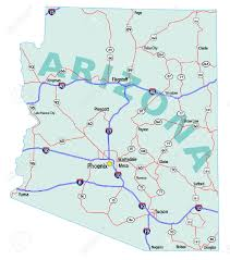 Tucson Arizona Map by Arizona State Road Map With Interstates U S Highways And State