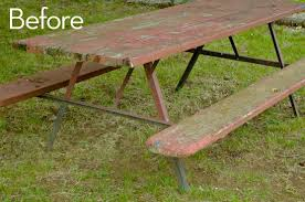 Make Your Own Picnic Table Bench by How To Build An Extra Large Diy Picnic Table Curbly