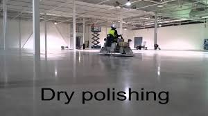 concria concrete floor polishing cleaning with ride on