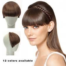 clip snip hair styles bangs chignon 1pcs straight hair fringe fake hair clip in bangs