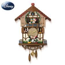 Modern Coo Coo Clock Disney Mickey And Friends Animated Musical Cuckoo Clock