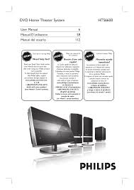 philips home theater download free pdf for philips hts6600 home theater manual