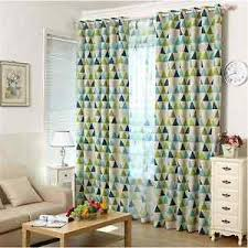 Jungle Blackout Curtains 2 X Blockout Curtains Triangle Blackout Jungle Green Boys