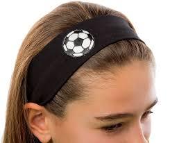 stretch headbands cotton soccer patch stretch headband black