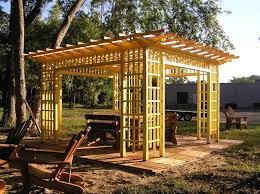 Wooden Awning Kits Wood Pergolas Landscaping Network