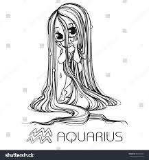 zodiac aquarius astrological sign vector illustration stock vector