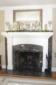 decorations rustic glam christmas mantel mantel feature bark