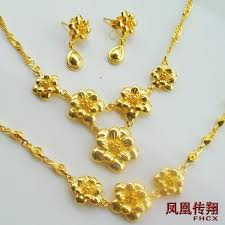 gold plated necklace wholesale images Brides three sets of gold plated jewelry set wedding jewelry jpg