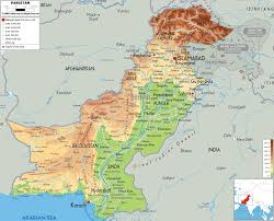 Pakistan On Map Of World by Physical Map Of Pakistan Ezilon Maps