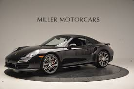 porsche convertible black 2015 porsche 911 turbo stock 7119 for sale near greenwich ct