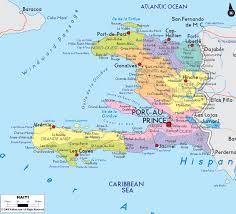 Map Of Spain With Cities by Large Detailed Political And Road Map Of Haiti With Cities Haiti