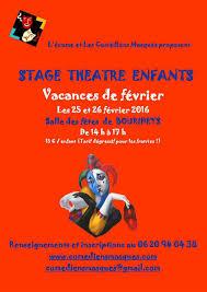 poster pour enfant 25 et 26 février stage théâtre pour enfants 6 11 ans enfant