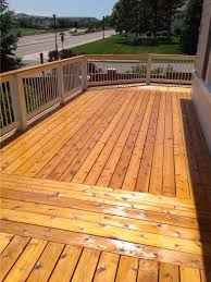 natural cedar decking deck tune up deck refinishing