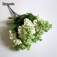 filler flowers kyunovia artificial berry and leaf spray foam berries bouquet