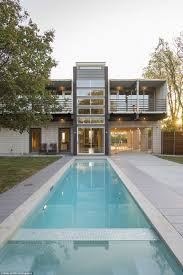 a modern shipping container home in dallas