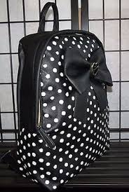 book bags with bows betsey johnson backpack large dots hearts school tote bag black