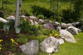 collection in large rock landscaping ideas garden design garden
