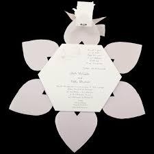 Wedding Invitations With Ribbon Original Wedding Invitation Transparent Heart Hexagon With Grey