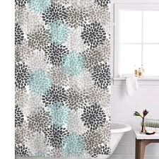Aqua And Grey Curtains Terrific Grey And Navy Shower Curtain Photos Best Ideas Exterior