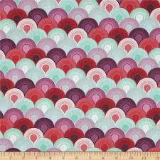 tula pink elizabeth chain mail plum discount designer fabric