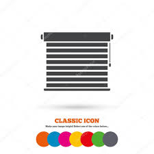 window blinds icon u2014 stock vector blankstock 80514800