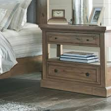 donny osmond home florence rustic nightstand with usb charging