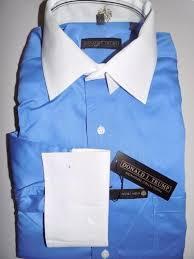donald trump men u0027s dress shirt non iron blue french cuff nwt size