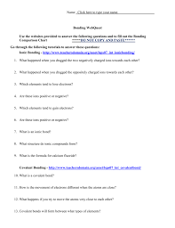 come together chemical bonding worksheet